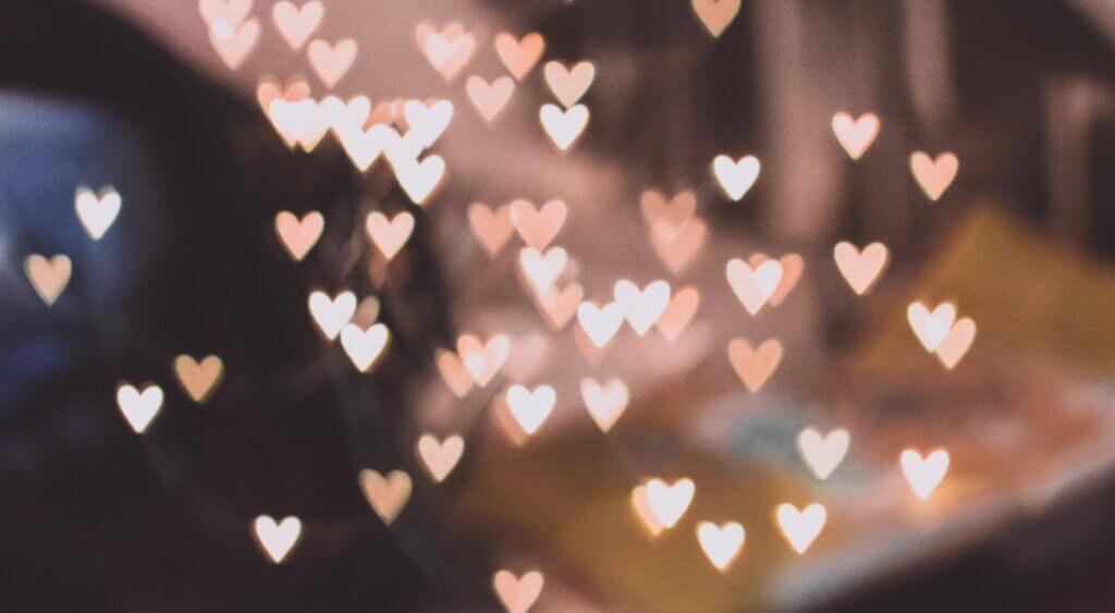 Sternenspritzer Herzform