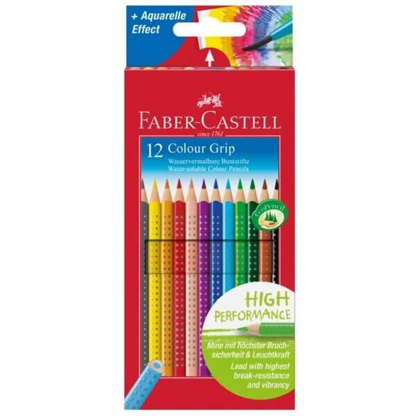 12 faber castell colour grip buntstifte farbsortiert 534271