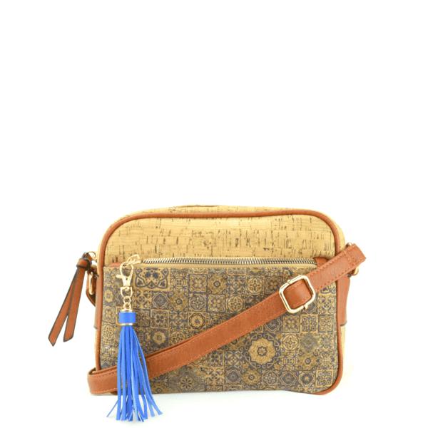 AK 207 Shoulder Bag Pequeno Blue Mosaic 1