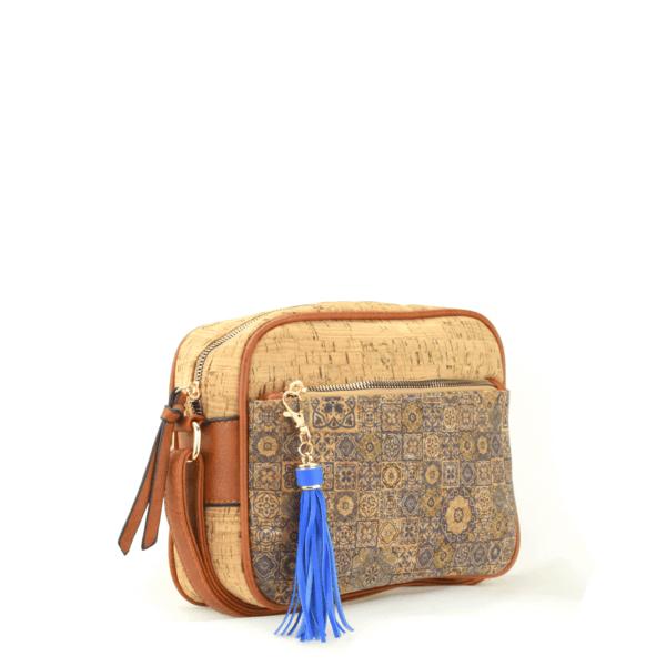 AK 207 Shoulder Bag Pequeno Blue Mosaic 2