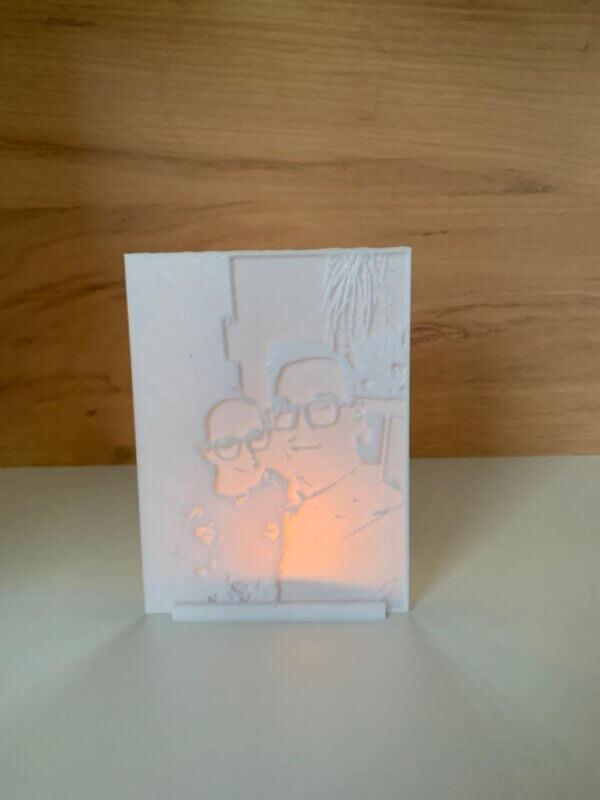 3D gedrucktes Lichtbild