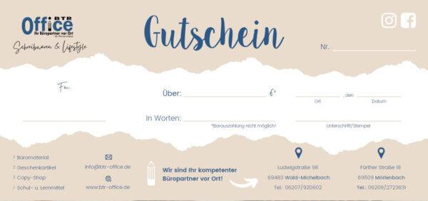 Gutschein Back