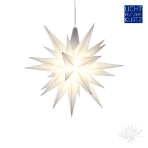 Herrnhuter-Stern-13 cm-weiß-Lichtkonzept-Kurtz