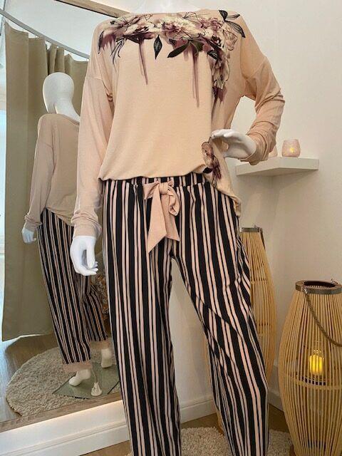 Pyjama Hose gestreift