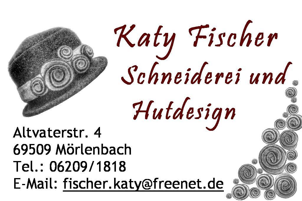 Katy-Fischer-Hutdesign Logo mit Adresse