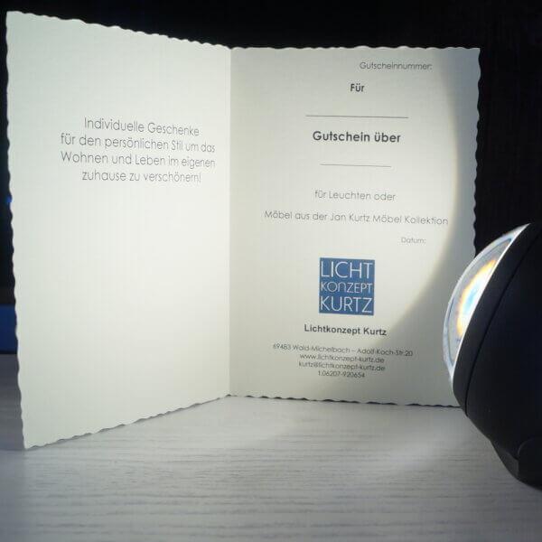 Gutschein Lichtkonzept Kurtz