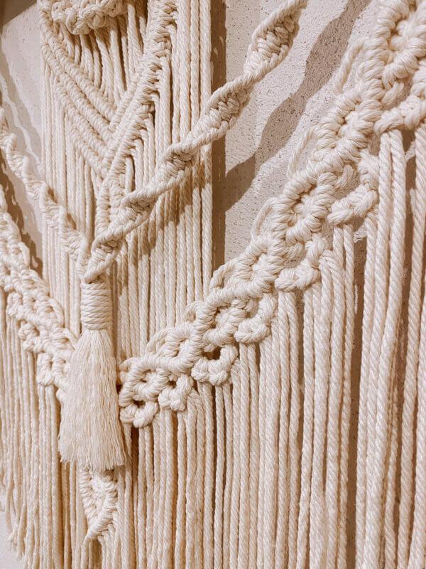 Makramee Wandbehang Detailaufnahme Knoten