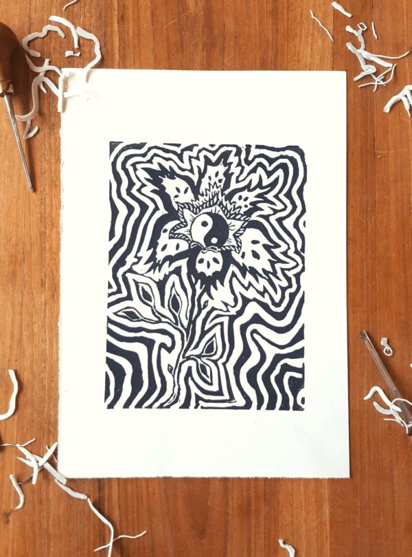 Psychedelische Blume