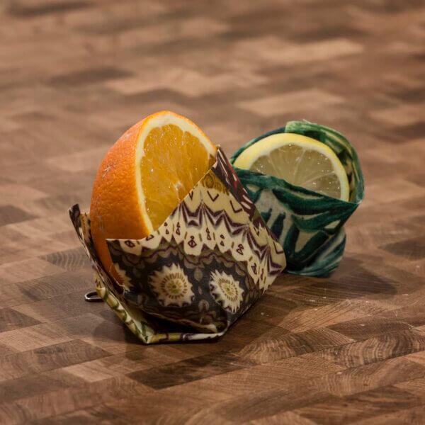 Zitrone und Orange in Wachstuch