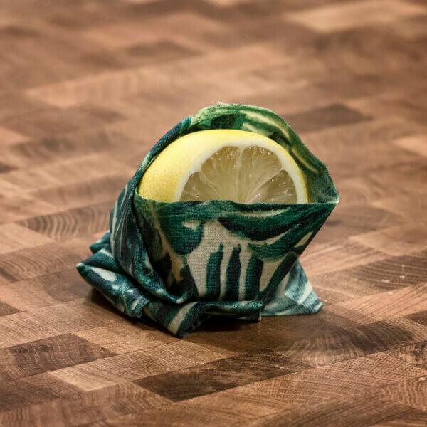Zitrone in Wachstuch