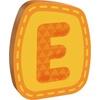 haba holzbuchstabe E orange