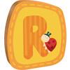 haba holzbuchstabe R orange