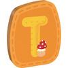 haba holzbuchstabe T orange